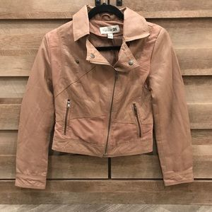 Jackets & Blazers - Blush Faux Leather Jacket